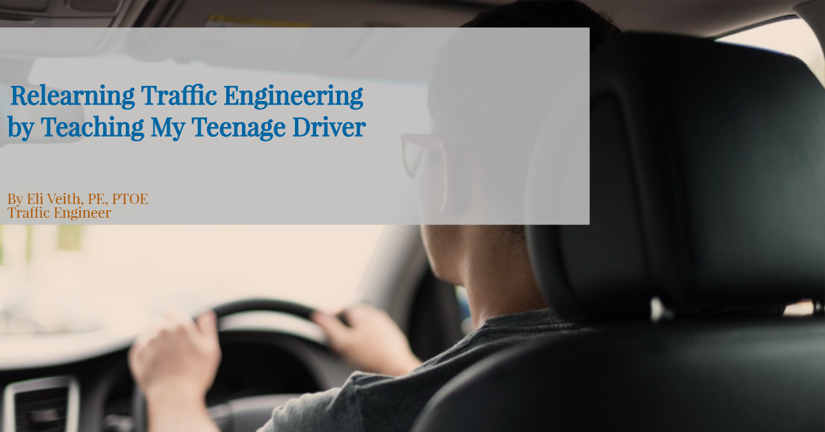 Relearning Traffic Engineering By Teaching My Teenage Driver